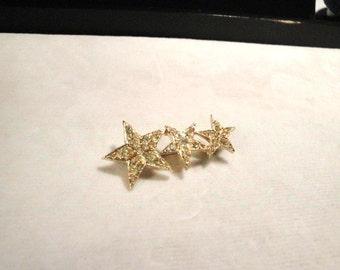 Vintage Coro Three Star Pin