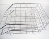 Wire Basket Stacking Letter Trays - Set of 2 Vintage Letter Trays