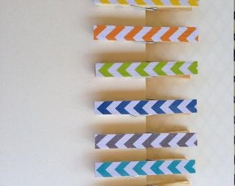 Decorative clothespins - Chevron
