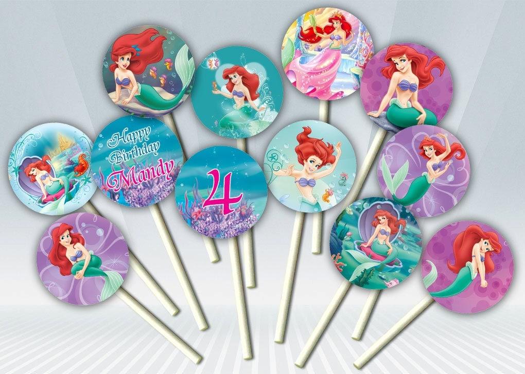 Little Mermaid Cupcake Toppers