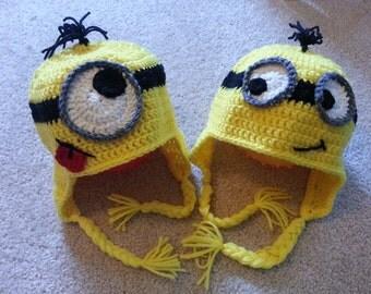 Crochet Yellow Minion Hat