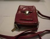 Perlina purple mauve messenger cell phone purse