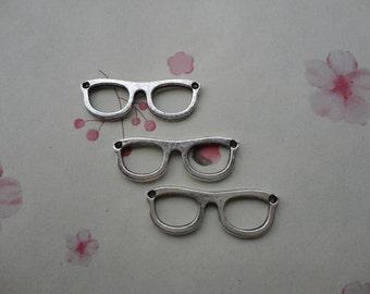 50pcs Antique silver Metal Charms-glasses pendant--glasses charm--28X10mm--CP441