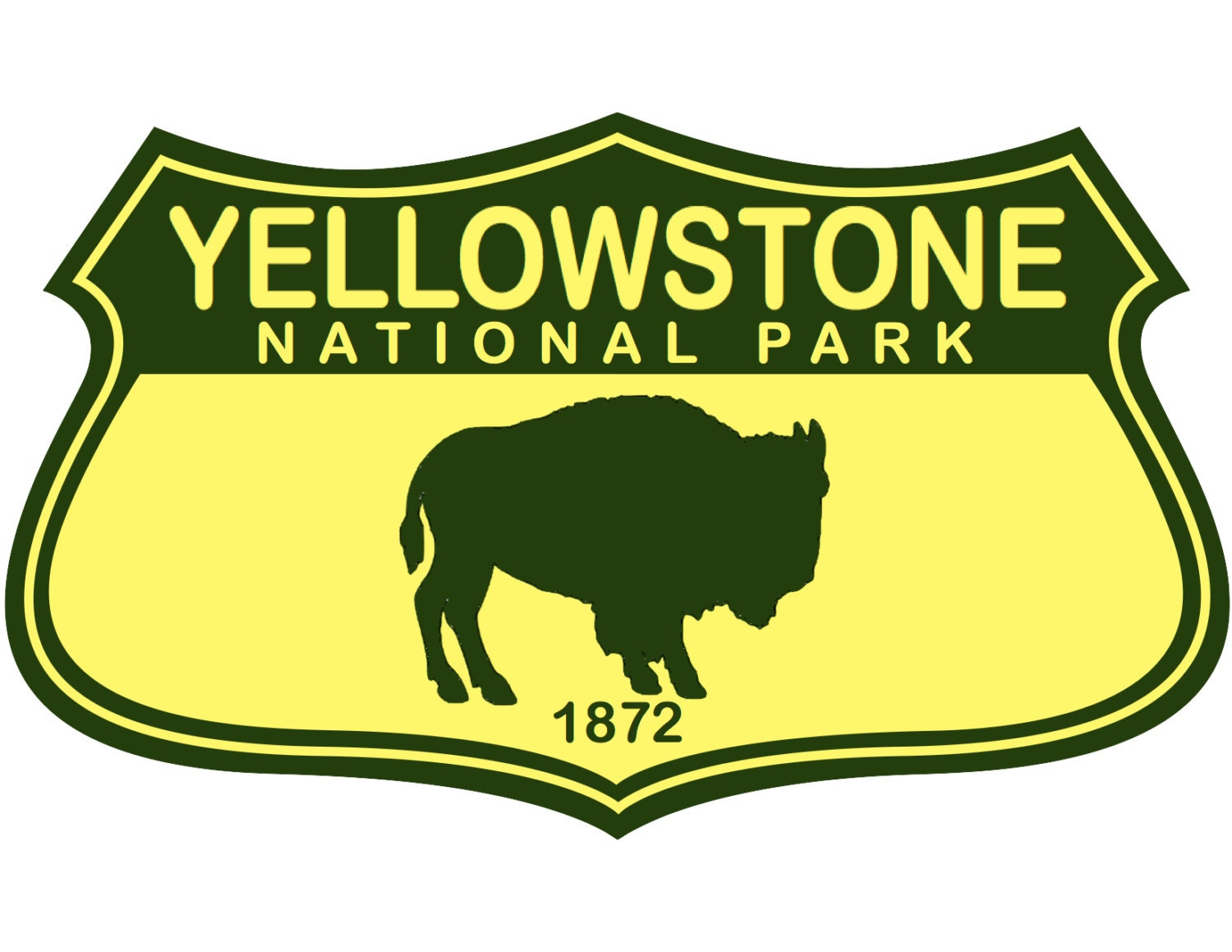 Yellowstone National Park Car Decal