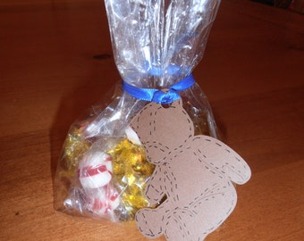 Birthday Bear Treat Bags with Tags