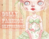 Dolly Fashion Sketchbook - for Blythe Doll Costume Couture Designs IN STOCK