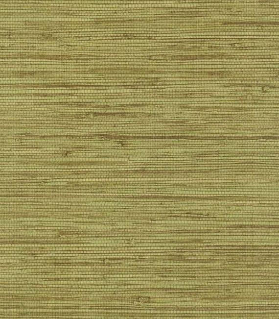 Green Grasscloth Wallpaper: Green Simulated Grasscloth Wallpaper Weave Woven Natural