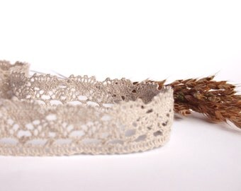 Natural Linen Lace Trim, High Quality, 5m/5.5yards