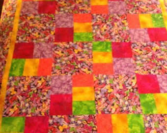 Colorful Butterflies Twin Quilt