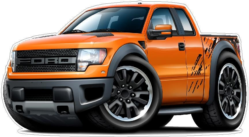 Ford Raptor Truck X Vinyl Decal Wall Graphic - Ford raptor decals