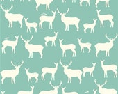Elk Family pool Organic Cotton KNIT by Birch Fabrics - interlock jersey 1/2 yard