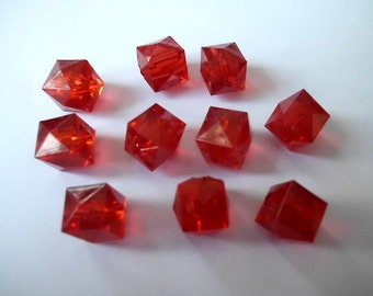 10 faceted cubes 10 x 10 mm beads