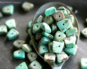 8 mm Beads, Green Beads, 5 - 8 mm Gemstone Beads, 20 pc. Magnesite Beads, Green, Brown Beads, 6 mm Beads, Turquoise Beads, Bead Supplier