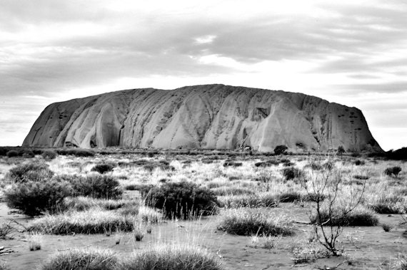 Items similar to nature photography black and white australian landscape photograph metalic print uluru on etsy