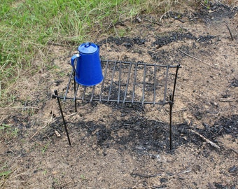 Blacksmith Forged Campfire Cooking Grate for Camping or Re-enacting