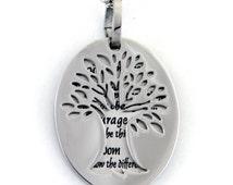 Serenity Prayer Pendant Stainless Tree Pendant, Serenity Prayer Gifts, Necklace For Women, Gifts For Women