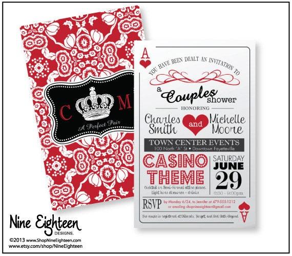 Casino Wedding Invitations: Trendy Casino Theme Couple's Shower Invitation By NineEighteen