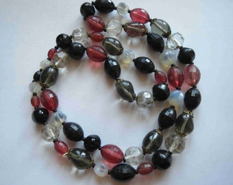 """Vintage Glass Bead Necklace 30"""""""