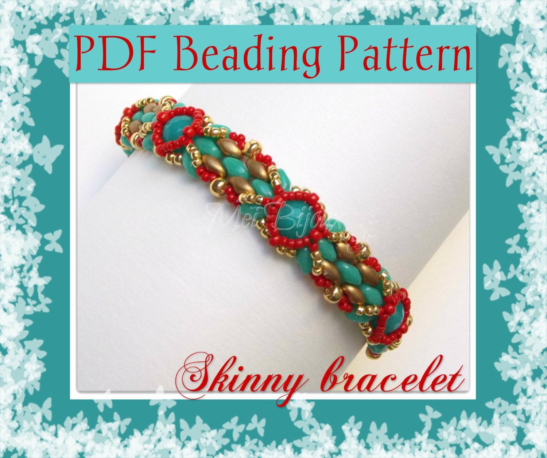 Diy Beads: DIY Beading Pattern Skinny Bracelet With SuperDuo Or Twin