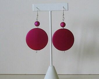 Modern Rock hot pink earrings