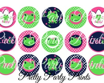 Instant Download M2MG Bright Tulip 1 inch Round Circles for Bottle Caps, Hair Bows, Jewelry, Magnets and Scrapbooking