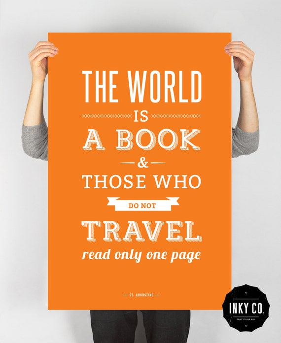 Book poster, Typographic Quote, Printable File, Vintage Retro art