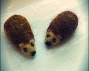 Tiny Needle Felt hedgehog