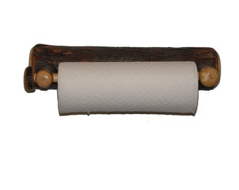 Free Shipping - Rustic Hickory Wall Mounted Paper Towel Holder