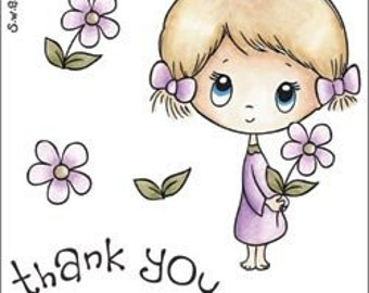 S.W.A.L.K. - THANK YOU -  unmounted rubber stamp designed by Crafter's Companion