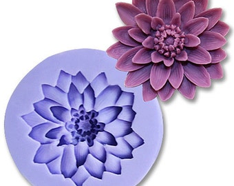 1 Cavity Chrysanthemum Polymer Clay Mold Flexible Silicone Mould Candle Candy Cake Fimo Resin Crafts Mold in Handmade