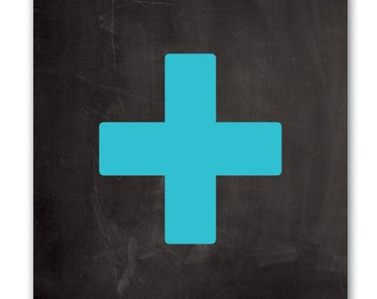 Canvas Wall Art - Swiss Cross - Turquoise