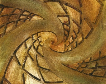 "Fine Art original carton-print ""Dizzeling"" Earth ORIGINAL Artwork by Luna Amoris"
