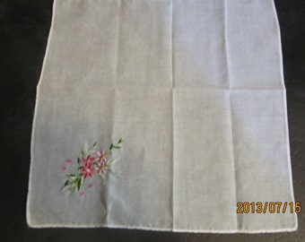 1940,s embroidered handkerchief