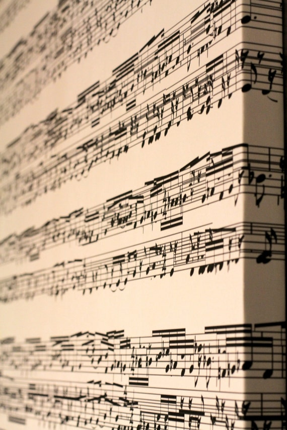 Items similar to music sheet canvas hanging wall art for Great house music