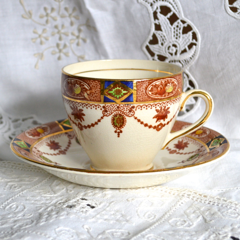 Vintage Arklow Irish China Tea Cup and Saucer Royal Linden