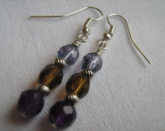 Fall Colored Crystal Earrings