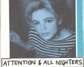 Pretty Zine PDF Issue 2 Attention and All Nighters- homemade zine with collages, writing, fashion and music