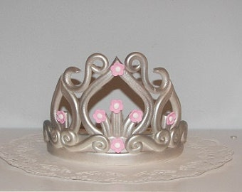 Cake Decoration Crown : Items similar to PDF Digital Download Fondant Crown ...