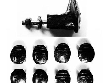 Free Shipping 8 Black Railroad Spike Hooks Set Handmade Vintage Antique Rustic Old House Restoration Tool Coat Wrought Iron Reclaimed Art