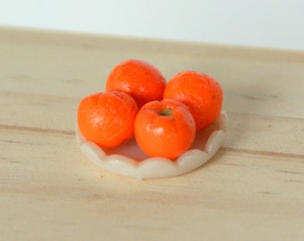 Dollhouse Miniature - Oranges on a Plate