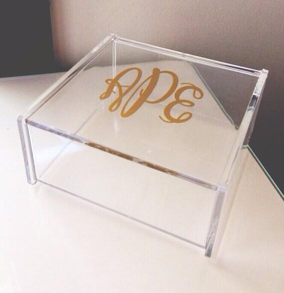 Clear acrylic makeup organizer jewelry box desk by - Acrylic desk organizer ...