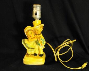 Chalk Honeymoon Couple Lamp