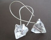 Crystal Pyramid Sterling Earrings Terminated Quartz Points Tips