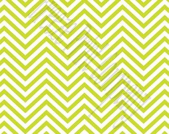 Lime chevron craft  vinyl sheet - HTV or Adhesive Vinyl -  lime green and white zig zag pattern   HTV46