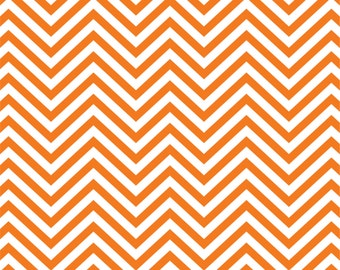 Orange chevron craft  vinyl sheet - HTV or Adhesive Vinyl -  orange and white zig zag pattern   HTV50