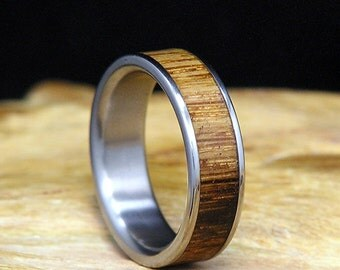 Used Jack Daniel Distillery Whiskey Barrel Wood Titanium Wedding Band Or Ring