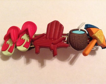 Reduced! Day at the Beach Barrette