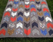 Grey and Mulit-Color Lap Quilt For Your Car Lover or The Boy in Your Life