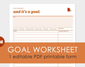 Worksheet Smart Goals Worksheet Pdf goal printable worksheets pdf typable delwfg com setting etsy
