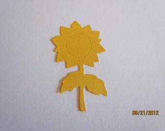 sunflower die cut
